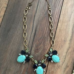 J.crew shades of blue necklace